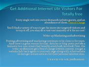 Get Additional Internet site Visitors For Totally free