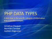 PHP DATA TYPES