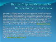 Shortest Shipping Occasions For Delivery In the US