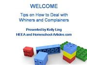 How to Deal with Children who are Whiners and Complainers