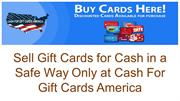 Get Rid of Unused Gift Cards by Exchanging Them for Cash