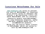 Luxurious Motorhomes for Sale