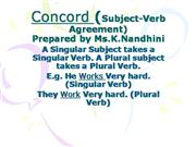 Concord (Subject-Verb Agreement)