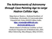 the achievements of astronomy through cave painting age to large hadro