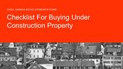 Check This Before Buying Under Construction Properties In India