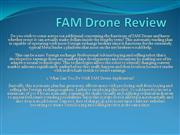 FAM Drone Review