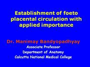 establishment of foeto placental circulation with applied importance