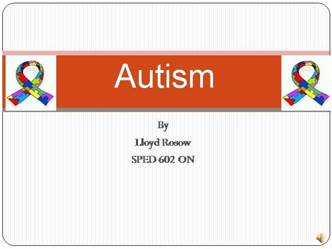 Powerpoint revised autism authorstream toneelgroepblik Choice Image