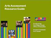 Arts%20Assessment%20 Resource%20Guide