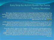 Easy Step by Action Guide For Forex Trading