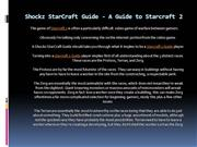 Shockz StarCraft Guide - A Guide to Starcraft