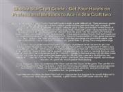 Shockz StarCraft Guide - Get Your Hands on