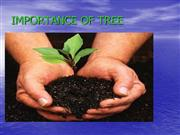 IMPORTANCE OF TREE-ASHMITA