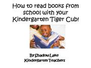 how to read with your kinder cub