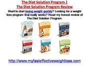 the diet solution program review