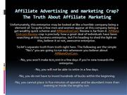 Affiliate marketer Advertising and marketing Crap