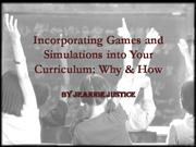 Curriculum Development with Games