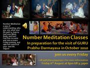 Number Meditation Classes