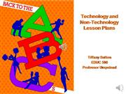 educ 590- technology and non-technology plans