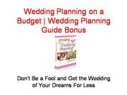 wedding planning on a budget | wedding planning guide bonus