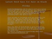 Latest Used Cars for Sale on Black Friday