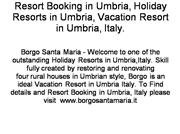 vacation resort in umbria, italy