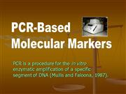 PCR Based Mol Markers