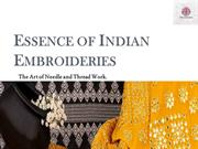 Essence of Indian Embroideries