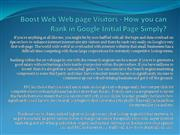 Boost Web Web page Visitors - How you