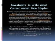 Investments in Write about Current market Made Simpler