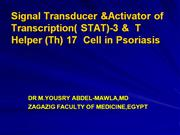 Stat3   protein & Thelper 17  cell in psoriasis