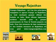 Voyage Rajasthan, Voyages Rajasthan