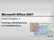excel chapter one powerpoint