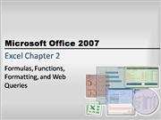 excel chapter 2 powerpoint