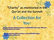 charity as mentioned in the qur'an and the sunnah