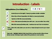 Using the Labels Toolbar