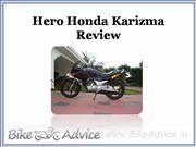 hero honda karizma review