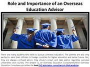 The Function and Importance of an Overseas Education Consultant