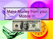 Make Money from your Mobile !!!