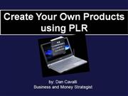 Create Your Own Products using PLR
