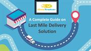 Solving-last-mile-delivery|One Traker