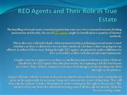 REO Agents and Their Role in True Estate