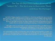 The Top 10 Objections Sellers Have got to