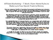 Affiliate Marketing - 7 Work-from-Home Rules to Assure