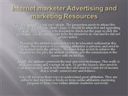 Internet marketer Advertising and marketing Resources