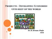 Products - Developing Economies unto rest of the