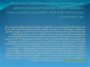 Productive Fundamental Online Marketing and advertising IdeasProductiv