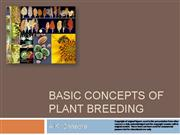 BASIC CONCEPTS OF PLANT BREEDING
