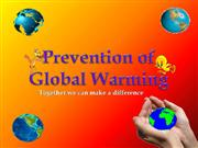 Prevention of Globalwarming