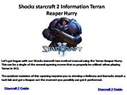 Shockz starcraft 2 Information Terran Reaper Hurry